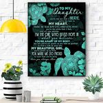 To My Daughter Turtles Canvas Print Wall Art - Gift For Daughter - Matte Canvas