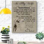 To My Wife Canvas Print Wall Art - Gift For Wife - Matte Canvas