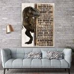 To My Daughter T Rex Canvas Print Wall Art - Gift For Kids - Matte Canvas