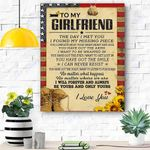 To My Girlfriend Soldier Canvas Print Wall Art - Gift For Girlfriend - Matte Canvas - Matte Canvas
