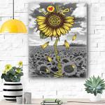 Sunflower Firefighter Canvas Print Wall Art - Matte Canvas