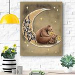 To My Daughter Bear Canvas Print Wall Art - Gift For Daughter - Matte Canvas