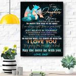 To My Daughter Canvas Print Wall Art - Gift For Daughter - Matte Canvas