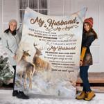 Reindeer Custom Blanket My Husband My Angel Blanket - Fleece Blanket