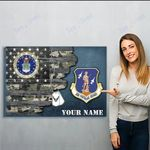 U.S. Air Force Major Commands   Personalized Name_result - Matte Canvas