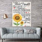 To My Daughter Sunflower Canvas Print Wall Art - Gift For Daughter - Matte Canvas