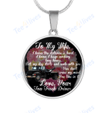 Tow Truck Drive Custom Necklace To My Wife Circle Necklace - Gift For Wife