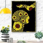 Sunflower Dachshund Dog Canvas Print Wall Art - Matte Canvas