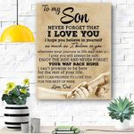 To My Son Canvas Print Wall Art - Gift For Son - Matte Canvas