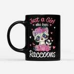 Coffee Mug Raccoons Mug - Gift For Girls - Black Mug