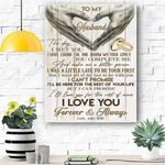 To My Husband Canvas Print Wall Art - Gift For Husband - Matte Canvas