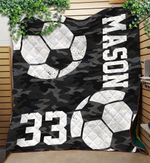 Custom Blankets Soccer Personalized Name & Number Blanket - Quilt Blanket