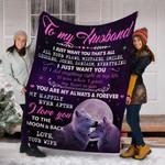 Wolf Custom Blanket To My Husband Blanket - Gift For Husband - Fleece Blanket
