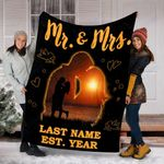 Personalized Mr And Mrs Gifts - Mr And Mrs Custom Name Blanket - Gift For Her - Fleece Blanket