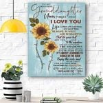 Sunflower To My Beautiful Granddaughter Canvas Print Wall Art - Matte Canvas