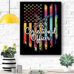 Proud Correctional Officer Canvas Print Wall Art - Matte Canvas