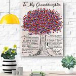 To My Granddaughter Canvas Print Wall Art - Matte Canvas