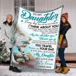 Wolf Custom Blanket To My Daughter Blanket - Gift For Daughter - Fleece Blanket