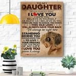 To My Daughter Lion Canvas Print Wall Art - Gift For Daughter - Matte Canvas