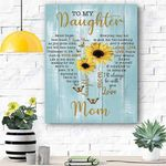 Sunflower To My Daughter Canvas Print Wall Art - Matte Canvas