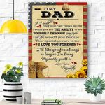 To My Dad Soldier Canvas Print Wall Art - Gift For Dad - Matte Canvas
