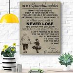 To My Grannddaughter Canvas Print Wall Art - Matte Canvas