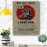To My Son Knight Templar Canvas Print Wall Art - Matte Canvas