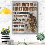 Volunteer Firefighter Canvas Print Wall Art - Matte Canvas
