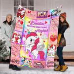 Unicorn Custom Blankets Personalized Blankets With Name - Fleece Blanket