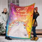 Personalized Unicorn Gifts - Unicorn Custom Name Blankets - Fleece Blanket