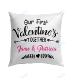 Our First Valentine Mr and Mrs Personalized Pillow - Valentines Day Gifts 10