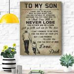 To My Son Never Lose Canvas Prints Wall Art - Perfect Gift For Son - Matte Canvas