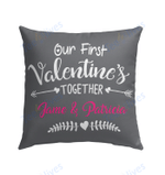 Our First Valentine Mr and Mrs Personalized Pillow - Valentines Day Gifts 7