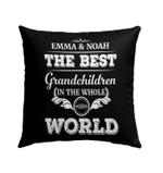 Custom Pillow Best Grandchildren In The World Personalized Pillow - Best Pillow