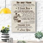To My Grandson Canvas Prints Wall Art - Matte Canvas