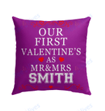 Our First Valentine Mr and Mrs Personalized Pillow - Valentines Day Gifts 6