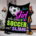Custom Blanket Soccer Blanket - Fleece Blanket