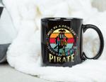 Coffee Mug Pirate Freebooter Buccaneer Caribbean Adventure Mug - Black Mug