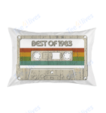 Vintage Best of 1983 36th Birthday Cassette Pillow Best Pillow - Pillow Covers