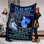 Wolf Custom Blanket To My Wife Blanket - Perfect Gift For Wife - Fleece Blanket