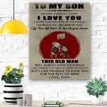 To My Son - Dad - This Old Man - Matte Canvas
