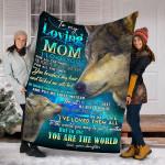 Wolf Custom Blanket To My Lovinng Mom Blanket - Perfect Gift For Mom - Fleece Blanket