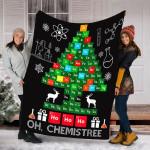 Science Christmas Shirt Oh Chemist Tree Chemistree Chemistry T-Shirt - Fleece Blanket