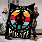 Customs Blanket Pirate Freebooter Buccaneer Caribbean Adventure Blanket - Fleece Blanket