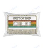 Vintage Best of 1989 30th Birthday Cassette Pillow Best Pillow - Pillow Covers