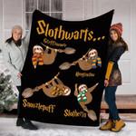 Sloth  Custom Blanket Harry Slothwarts Blanket - Fleece Blanket
