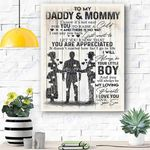 To My Daddy And Mommy Canvas Prints Wall Art - Matte Canvas