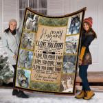 Wolf Custom Blanket To My Husband Blanket - Perfect Gift For Husband - Fleece Blanket