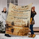 Reindeer Customs Blanket To My Husband Blanket - Perfect Gift For Husband - Fleece Blanket