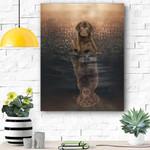 Chocolate Labrador Canvas Prints Wall Art - Matte Canvas